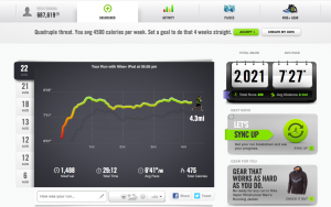 Nike Plus Dashboard